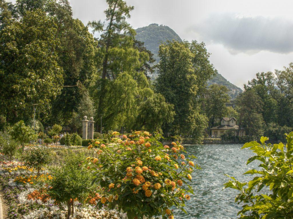 Parco Ciani in Lugano, Tessin, Schweiz